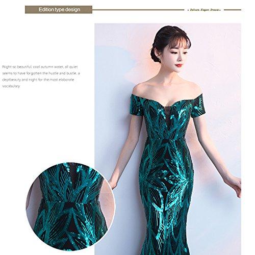 del Vestidos Es Noche XL 2018 Mujeres Banquete Fishtail Dresses Correa De Dress De De Host De Green Nuevos Hombros Palabra Elegantes Una Las Correa La La wITwq5