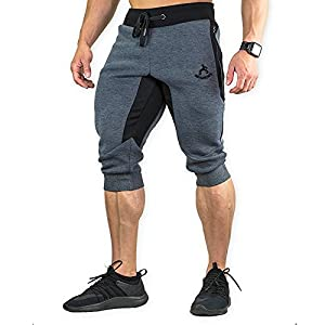 MAIKANONG Men's 3/4 Training Pant Cotton Sweatpants Jogger Pants Tapered Joggers