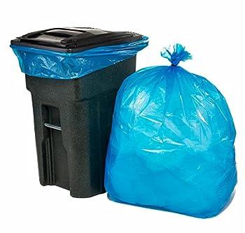 Plasticplace 65 Gallon Blue Trash Bags, 50/Case
