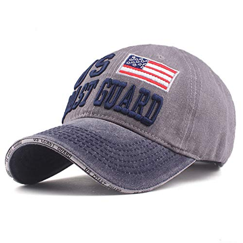 (XIAOMAOMAO New Sandwich Baseball Cap Coast Guard Hats Autumn Summer Hat for Men Women Caps Hats Embroidery Cap)