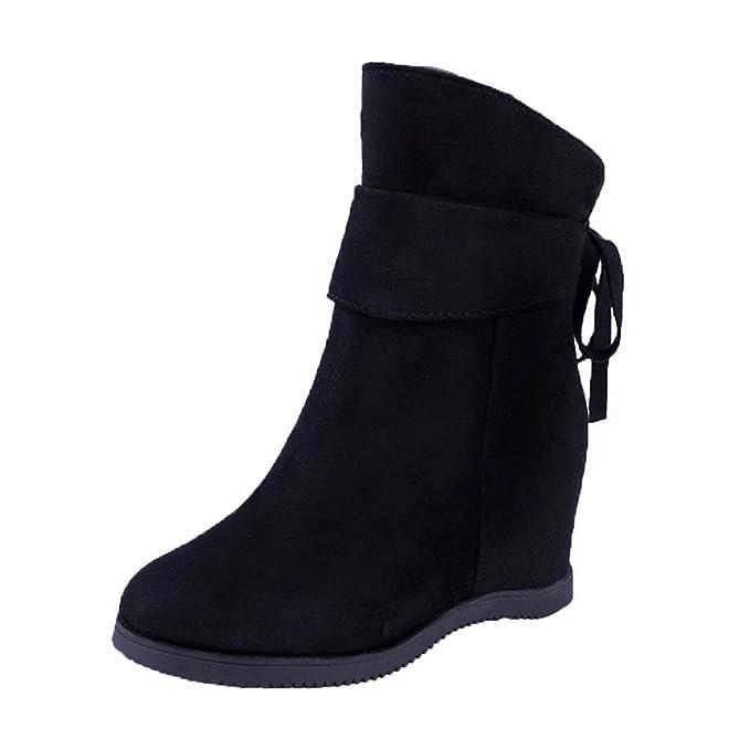 f99284d14c63 DENER Women Ladies Girls Mid Top Boots with Heels