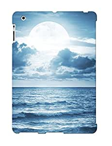 Awesome Case Cover/ipad 2/3/4 Defender Case Cover(ocean Sea Moonlight Dramatic Scene Full Moon Beautiful Nature ) Gift For Christmas