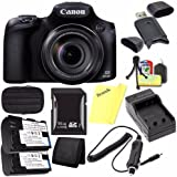 Canon PowerShot SX60 HS Digital Camera 9543B001 + Battery + Charger + 16GB SDHC Card + Small Case + Card Reader + Card Wallet (International Model)