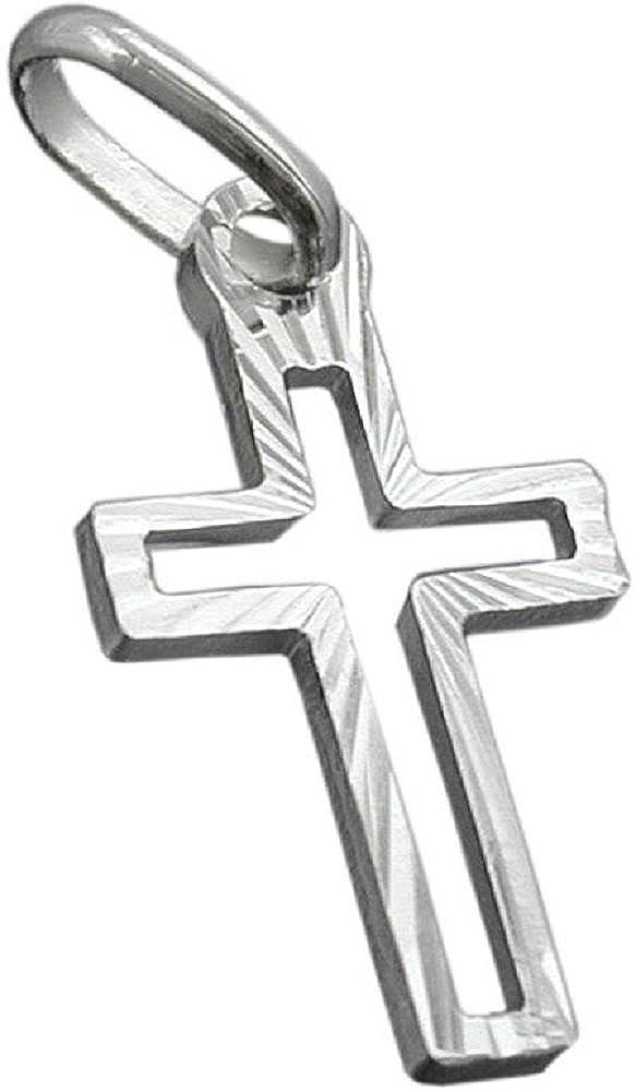 Unbespielt Männer Frauen Kreuzanhänger Für Halskette Religion Kreuz Silberkreuz 925 Silber Diamantiert 16 x 9 mm Schmuckbox 466G92395312