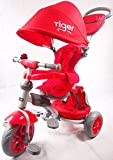 LITTLE TIGER 4 IN 1 KIDS TRIKE TRICYCLE(RED)