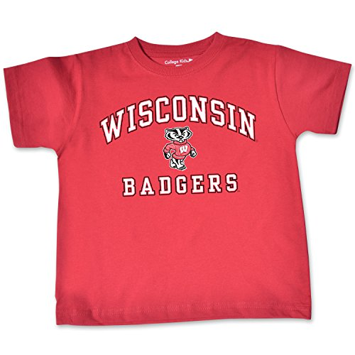 NCAA Wisconsin Badgers Toddler Short Sleeve Tee, 2 Toddler, Red