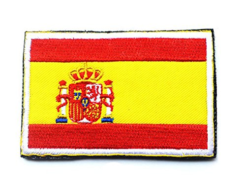Spain Flag Patch - Embroidery Each Country's Flag Patch (3''X2'', Spain)