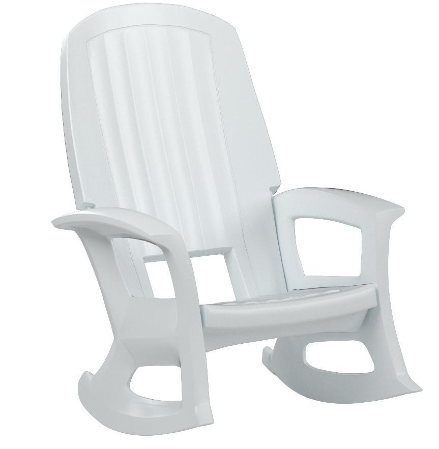 Amazon Com Semco Plastics Semw Extra Large Recycled Plastic Resin Durable Outdoor Patio Rocking Chair White Patio Rocking Chairs Garden Outdoor