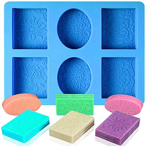 Siliconen Cupcake Zeepvorm Siliconen Zeep Maken Supplies Zeepmal Siliconen Zeepmal DIY Zeepvormen Rechthoekig voor Het…