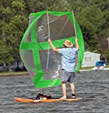 Large Super Skate Sail And Paddleboard sail By Sailskating LLC (Green) - Award Winning Compact, Portable, Easy to Set up Design!