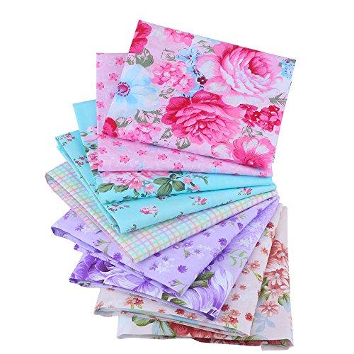 Shuan Shuo New Flower Series Cotton Fabric Quilting Patchwork Fabric Fat Quarter Bundles Fabric For Sewing DIY Crafts Handmade Bags Pillows 40X50cm 9pcs/lot by Shuan Shuo