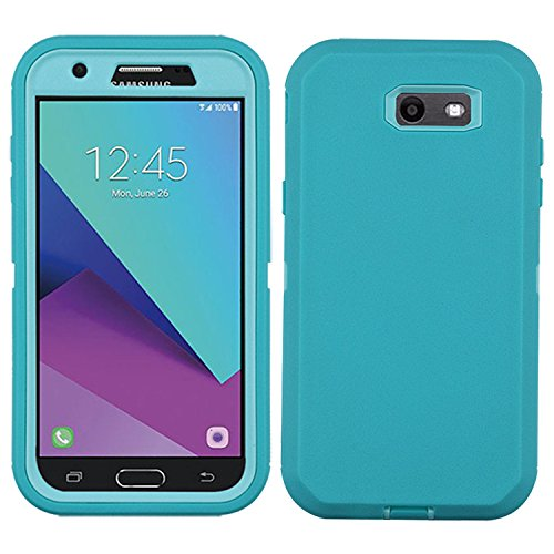 (Samsung Galaxy J3 2017 Case, [Heavy Duty] Built-in Screen Protector Tough 4 in1 Rugged Shorkproof Cover for Samsung Galaxy J3 2017/Galaxy J3 Emerge/Galaxy J3 Prime - Without Kickstand)