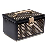 WOLF 301002 Chloe Medium Jewelry Box, Black