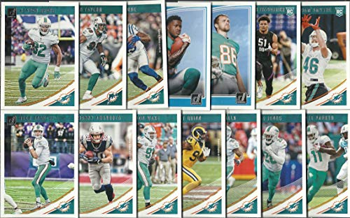 (2016, 2017 & 2018 Panini Donruss Football Miami Dolphins 3 Team Set Lot Gift Pack 38 Cards W/Rookies)