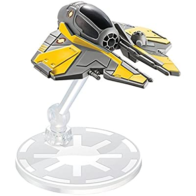 Hot Wheels Star Wars Anakin Skywalker's Jedi Starfighter Vehicle: Toys & Games