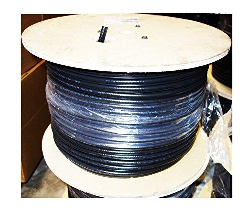 [해외]Commscope RG11 공중 Tri-shield 동축 케이블 (메신저 선 포함) F11TSVVM (1000 피트 스풀)/Commscope RG11 Aerial Tri-shield Coax Cable with Messenger Wire F11TSVVM (1000 Foot Spool)