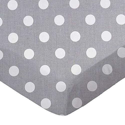 (SheetWorld Fitted Sheet (Fits BabyBjorn Travel Crib Light) - Polka Dots Grey - Made In USA)