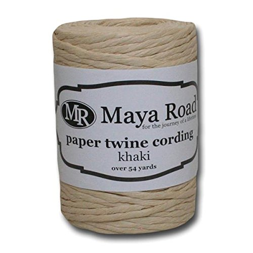 Maya Road PT2517 Paper Twine Cording for Crafting, Khaki