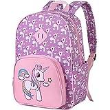 """Preschool Backpack for Girls, 15"""" Unicorn Toddler School Bag - Kids Bookbag"""