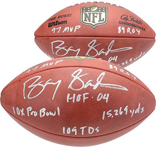 Barry Sanders Detroit Lions Autographed Duke Pro Football with Multiple Inscriptions - Fanatics Authentic Certified