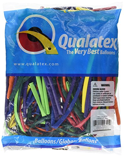 Qualatex 99321 Carnival Assortment Latex Balloons, 260Q, Multicolor, Pack of 100