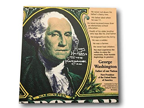 STEVE KAUFMAN SIGNED HANDPAINTED ARTWORK GEORGE WASHINGTON PAINTING ANDY ()
