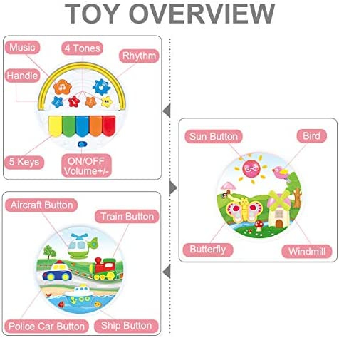 BAOLI 6 IN 1 BABY MUSICAL ACTIVITY CUBE CENTER TOY FOR TODDLERS BOYS GIRLS GIFTS 1 2 3 4 5 YEARS AND UP PRESCHOOL EDUCATIONAL LEARNING MUSIC TOY WITH PIANO LIGHT MUSIC (RANDOM COLOR)