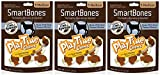 (3 Pack) SmartBones PlayTime Medium Peanut Butter Treat Chews for Dogs (5 Count Per Pack / 15 Chews Total) For Sale