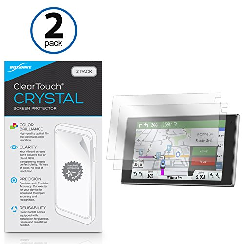 Garmin DriveLuxe 50LMTHD Screen Protector, BoxWave [ClearTouch Crystal (2-Pack)] HD Film Skin - Shields From Scratches for Garmin DriveLuxe 50LMTHD