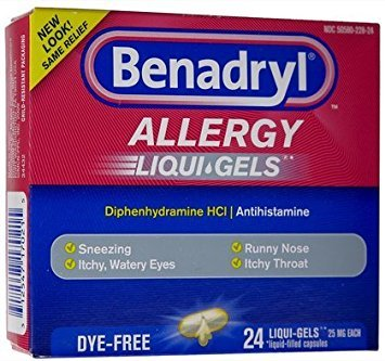 - Benadryl Allergy Liqui-GelsSoftgels-Dye-Free-24ct (Pack of 5)