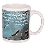 Strength Faith Wisdom Soaring Eagle 12 Oz Ceramic Coffee Mug