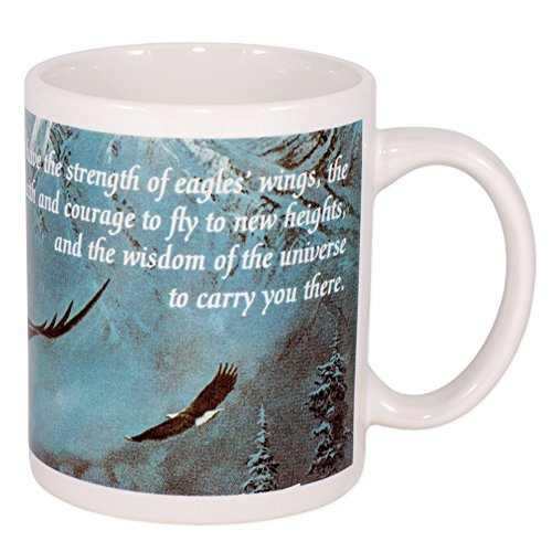 Strength Faith Wisdom Soaring Eagle 12 Oz Ceramic Coffee Mug by Leanin' Tree