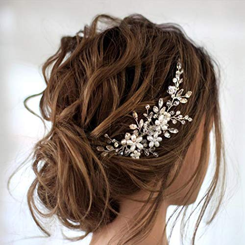 Amazon Com Jakawin Bride Wedding Hair Comb Flower Girls Bridal Hair Accessories Hair Piece For Women And Girls Hc034 Beauty