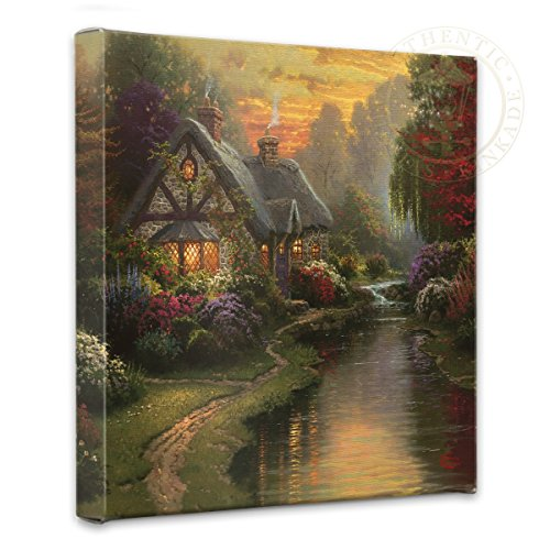(Thomas Kinkade Quiet Evening 14 x 14 Gallery Wrapped Canvas)
