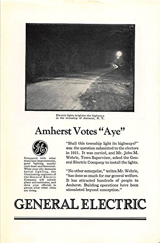 Print Ad 1926 General Electric It has attracted hundreds of people to Amherst
