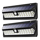 Cheap Litom Solar Lights Outdoor, Super Bright 42 LED Solar Powered Motion Sensor Light Adjustable Lighting Time Wall Light for Garden Yard Patio 2 Pack