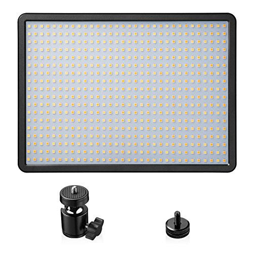 LED Video Light Panel, Powerextra 576 Beads 42W Bi-Color Dimmable Video Lamp Adjustable Color Temperature 3000K-6000K for Studio, Youtube, Photography, Video Shooting from Powerextra