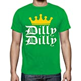 fresh tees Dilly Dilly Bud Light Funny Beer T- Shirt (Small, Kelly Green)
