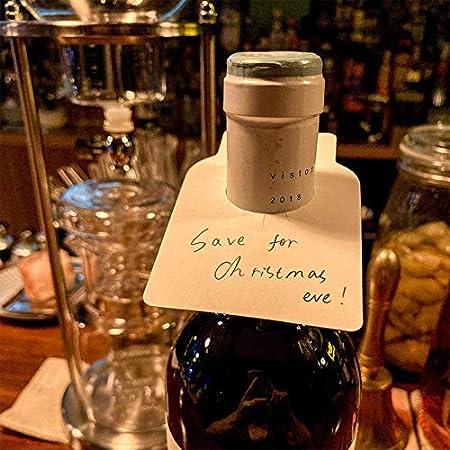 Botellas Etiquetas De Vino Blanco Etiquetas Para Botellas De Vino Plastico Etiquetas Colgantes Para Botellas De Vino Etiquetas Para Vino Para Bodega Para Identificación De Botellas 100 Piezas Blanco