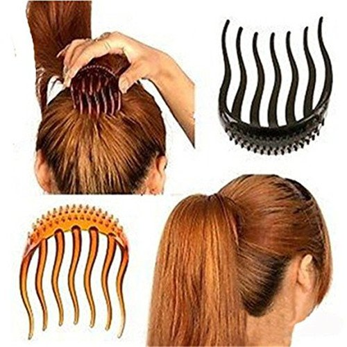 Gudhi 2Pcs Girl Hair Clip Ponytail Volume Inserts Hair Comb Accessories