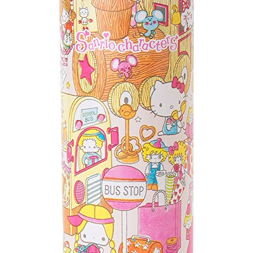 Sanrio Sanrio Characters stainless steel mug bottle L wrapping paper 460ml From Japan New