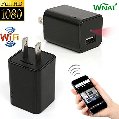 Mini 1080P WIFI HD Hidden Spy Camera Plug Wall Charger Video Recorder Motion Detection Wireless Real-time Remote See Live Nanny Cam