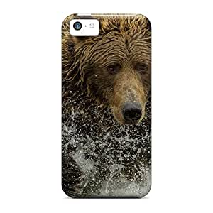 Shockproof/dirt-proof Bear Hunting Covers Cases For Iphone(5c)
