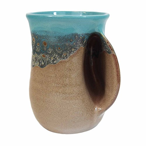 Clay in Motion Handwarmer Mug - Island Oasis - Right Hand