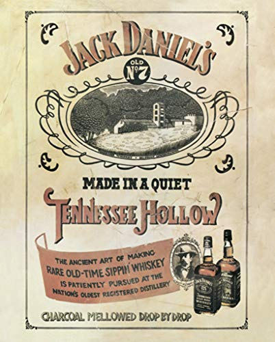 Pyramid America Jack Daniels Tennessee Hollow Vintage Advertisement Sippin Whiskey Poster 16x20 Inch