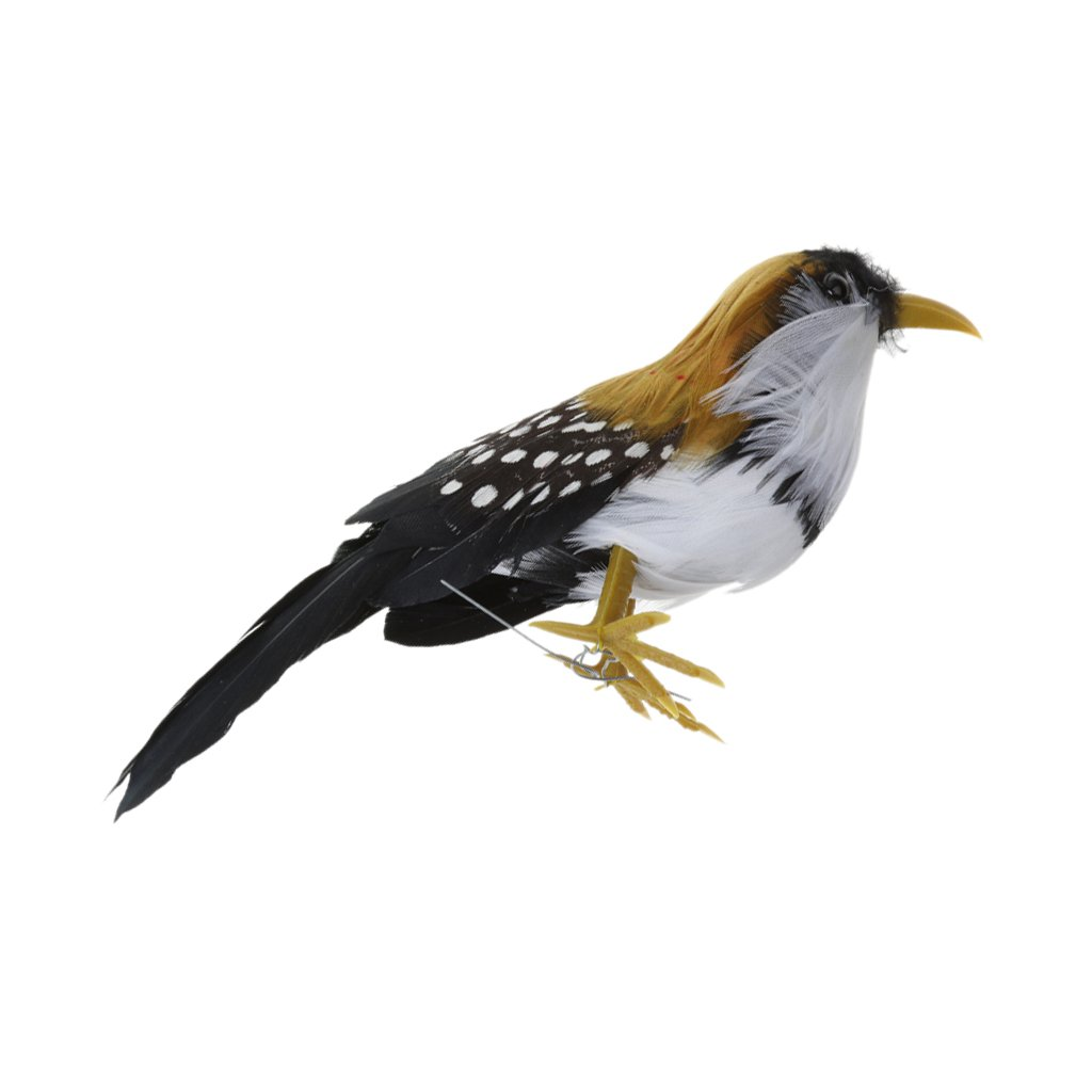 Fenteer Fake Artificial Bird Realistic Taxidermy Natural Home Decor Toy Gift 12cm PICK - Multi-Color, 12cm