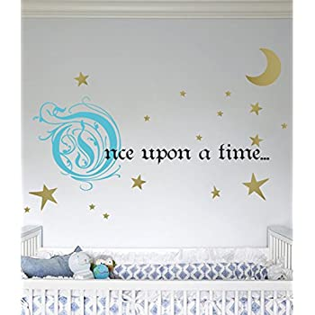 Amazon Com Once Upon A Time Story Book Quote Vinyl Wall
