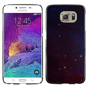 rígido protector delgado Shell Prima Delgada Casa Carcasa Funda Case Bandera Cover Armor para Samsung Galaxy S6 SM-G920 /Night Universe Stars Space Cosmos/ STRONG