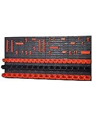 Wandstelling InBox, oranje, zwart, werkplaats, sterke gatenwand
