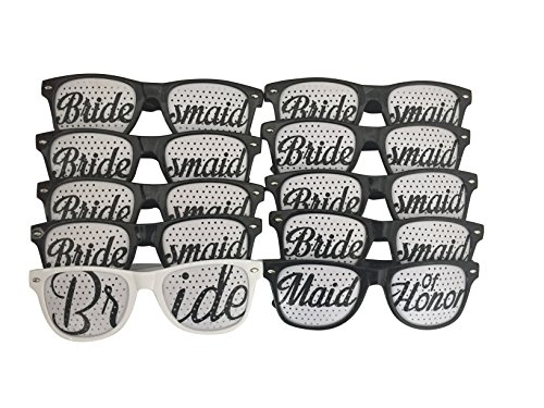 Bridal Party Wedding Party Sunglasses (Set of - Party Custom Glasses